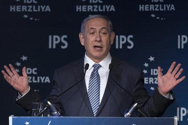 O primeiro-ministro israelense, Benjamin Netanyahu, em Herzliya, Israel, no dia 9 de junho de 2015. Foto: Jack Guez/AFP