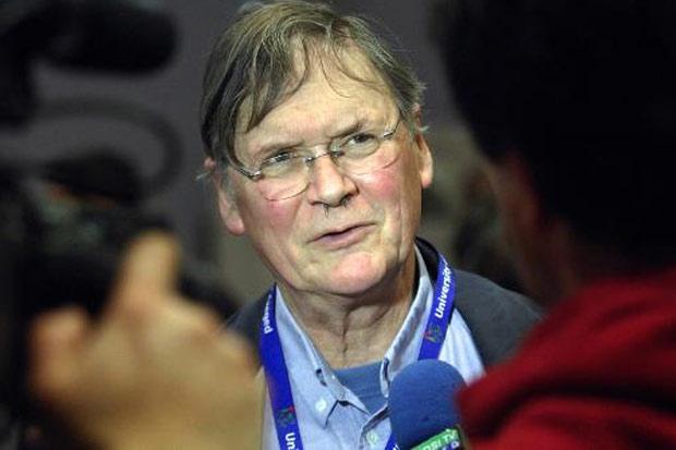 O cientista Richard Timothy Hunt, em 2012. Foto: Csaba Segesvari/AFP