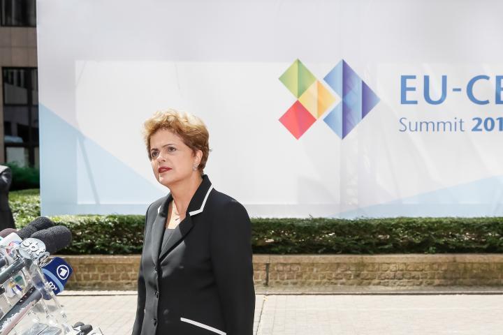 Após a entrevista, a presidente embarcou para o Brasil e vai pousar em Salvador. Foto: Roberto Stuckert Filho/Presidência da República