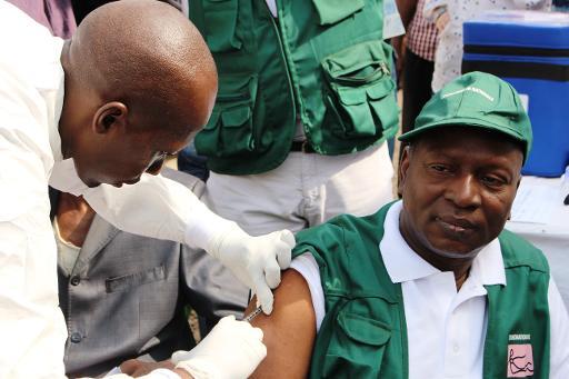 Vacinação contra o Ebola, em Conakry, Guiné. Foto: Cellou Binani