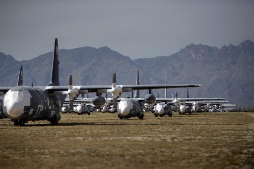 Base aérea americana de Davis-Monthan, Arizona, no dia 14 de maio de 2015. Duas pessoas ficaram feridas em uma troca de tiros na entrada da base aérea americana de Little Rock (Arkansas), informaram nesta segunda-feira fontes militares. Foto: Brendan Smialowski/AFP