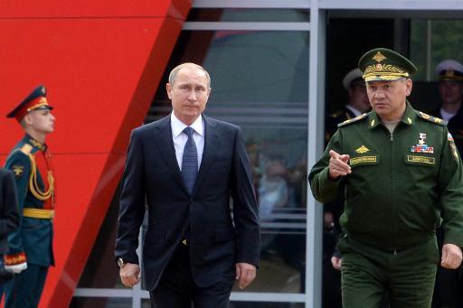 Putin chega ao evento militar em Kubinka. Foto:VASILY MAXIMOV/ POOL/AFP