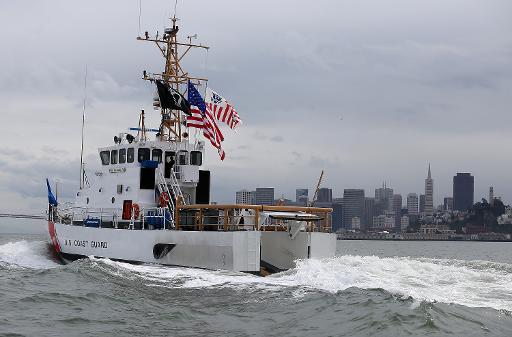 Barco da Guarda Costeira dos Estados Unidos. Foto: Justin Sullivan/AFP