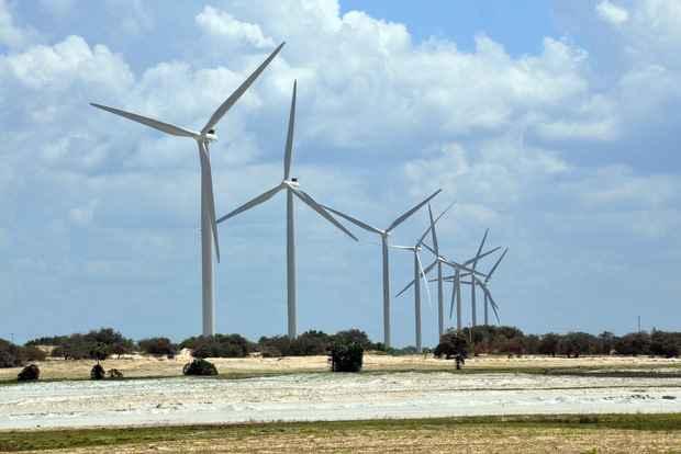 Energia eólica pode se tornar viável no Agreste de Pernambuco. Foto: Ana Amaral/DN/D.A. Press