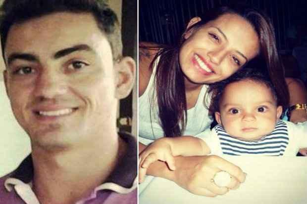 Dayrell (esquerda), Gabrielle e Miguel (direita). O bebê tinha 1 ano e 11 meses quando foi assassinado. (Foto: Reprodução/Facebook)