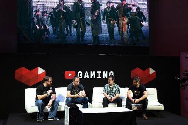 Debate sobre o YouTube Gaming acontece no segundo dia do salão E3, em Los Angeles, no dia 17 de junho de 2015. Foto: Mark Ralston/AFP