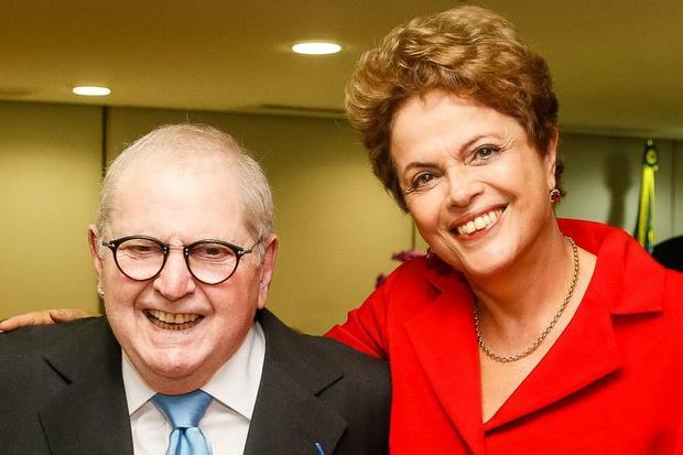 Jô Soares entrevistou a presidente por cerca de 70 minutos, no Palácio da Alvorada, em Brasília. Foto: Roberto Stuckert Filho/PR