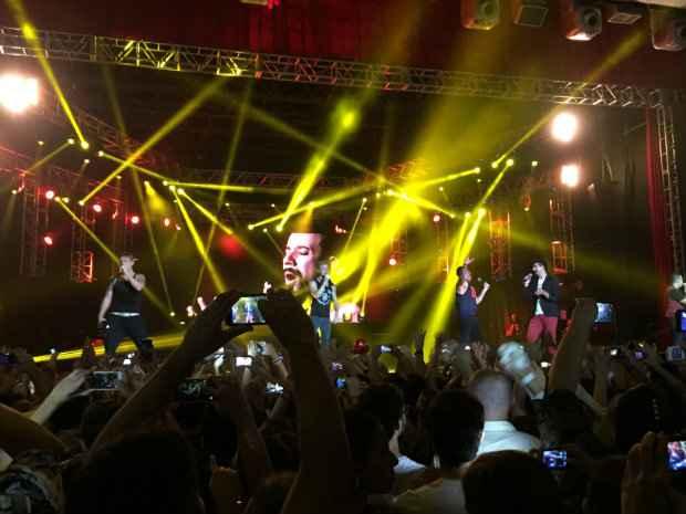 Um dos últimos grandes shows no Chevrolet Hall foi o de Backstreet Boys, no último dia 6. Crédito: Diogo Carvalho/DP/D.A Press