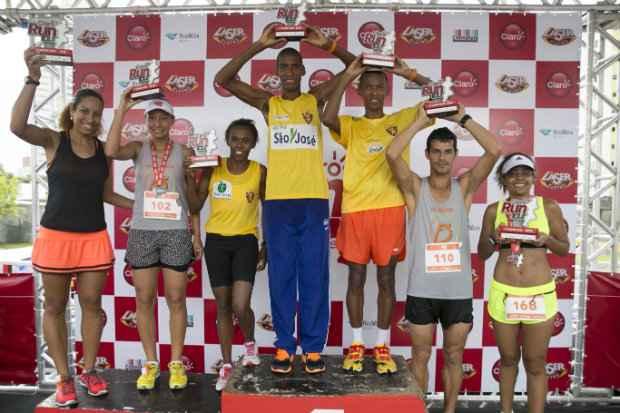 Os vencedores competiram em categorias de 5 Km e 10 Km. Foto: Claro Run/Divulgação oficial