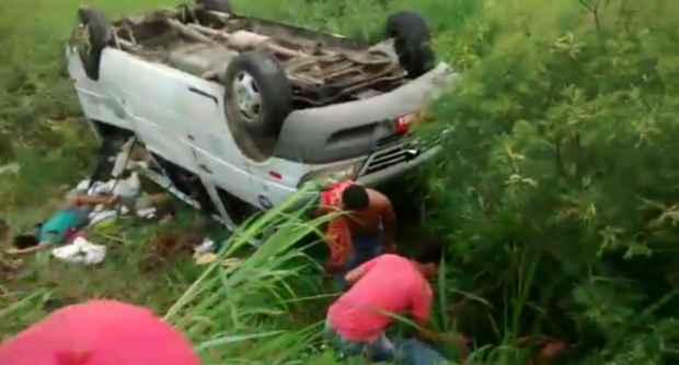 Atendimentos médicos estão sendo feitos por equipes de resgate do Corpo de Bombeiros, Ciosac e do Samu. Foto: WhatsApp/Cortesia