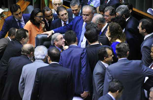 Cunha sofreu questionamentos dos colegas pela forma como conduz a Casa. Foto: Luiz Macedo/Câmara dos Deputados