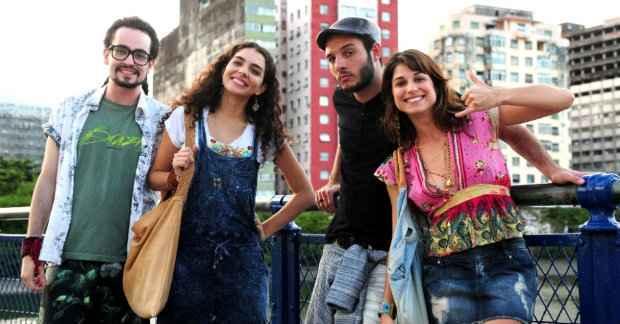 Os atores Johhny Hoocker, Julia Konrad, Samuel Vieira e Chandelly Braz gravaram cenas de
