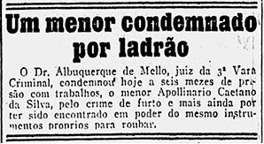 Jornal A Noite, em 6 de março de 1915