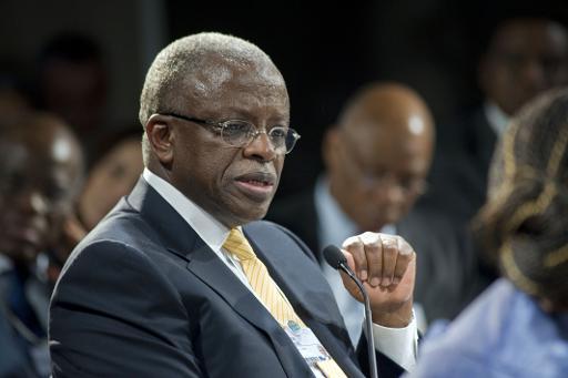 O candidato à presidência Amama Mbabazi. Foto:Rodger Bosch/ AFP