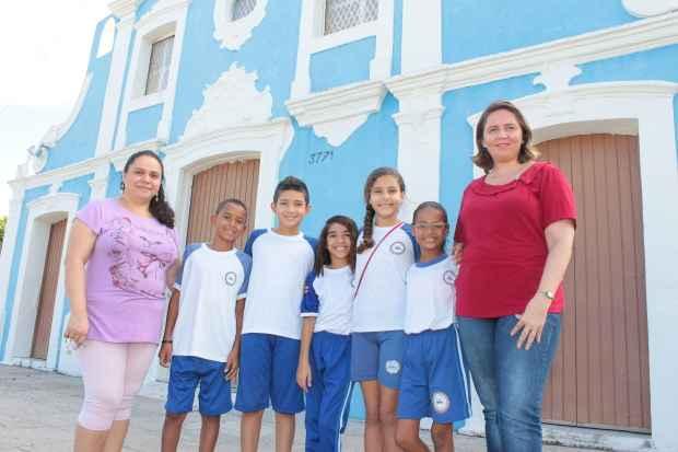 Turma da Escola Edison Gomes do Rego explorou os pontos turísticos em comemoração aos 80 anos da cidade. Foto: Brenda Alcântara/Esp.DP/D.A.Press.