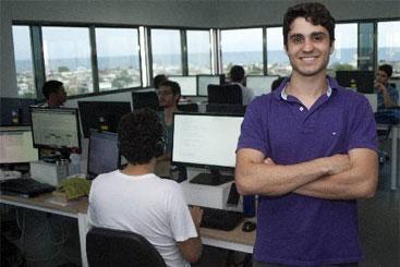 André Ferraz começou a trabalhar em um aplicativo para um shopping center. Foto:In Loco Media/Divulgação