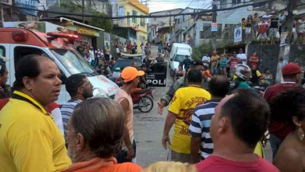 Comerciantes exigem mais policiamento na área. Foto: Ivanildo/WhatsApp/Cortesia
