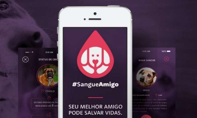 Sangue Amigo, o aplicativo que transforma seu cãozinho em um doador. Foto: Divulgação/ Facebook