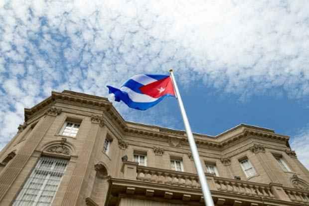 Nova embaixada de Cuba nos Estados Unidos. Foto: Andrew Harnik/Pool/AFP