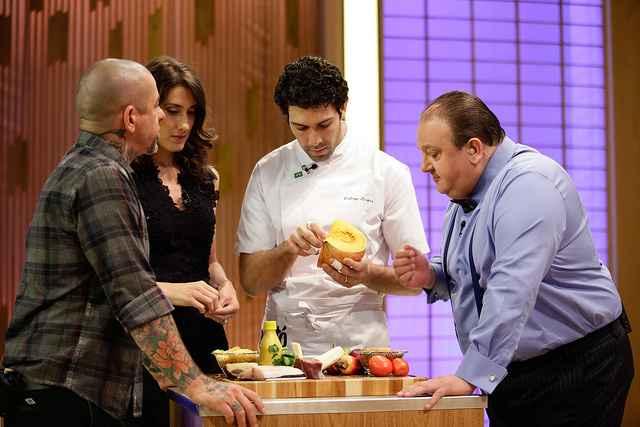 Até Fogaça, Paola e Jacquin tiveram uma aulinha com o chef convidado