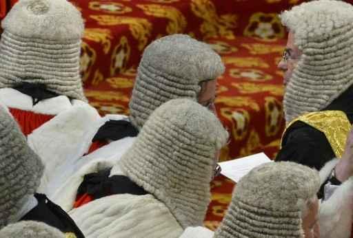 (Arquivo) Membros da Câmara dos Lordes. Foto: Toby Melville /POOL/AFP