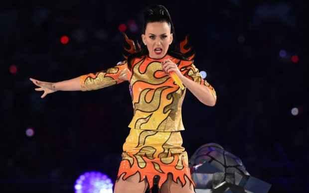Katy Perry é uma das atrações do Palco mundo. Foto: AFP/ Photo/ Timothy A. Clary