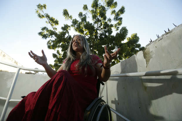 A mercadóloga Vasti Araújo foi impedida e hostilizada ao pedir para usar o banheiro adaptado a deficientes em um hospital do Recife (Rafael Martins/Esp.Dp/D.A Press)