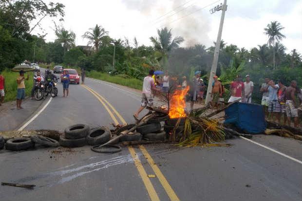 Moradores estão reivindicando a instalação de lombadas na rodovia. Foto: WhatsApp/Cortesia