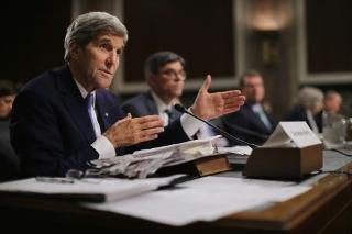O secretário de Estado americano, John Kerry, em Washington, DC, no dia 29 de julho de 2015 © GETTY IMAGES NORTH AMERICA/AFP Chip Somodevilla