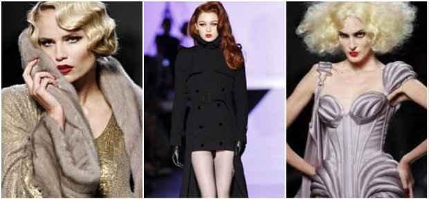 Gaultier se inspirou em divas, especialmente em Micheline Presle. Fotos: gaultier.com/Reprodução