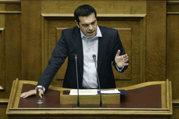 O primeiro-ministro grego, Alexis Tsipras, é visto em 28 de junho de 2015. Foto: Angelos Tzortzinis/AFP/Arquivos