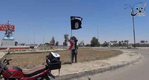O Estado Islâmico se apossou de grande parte do território de Síria e Iraque. Foto: Aamaq News via YouTube/AFP/ Reprodução