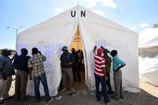 Eleições legislativas no Haiti começaram neste domingo. Foto: Hector Retamal/AFP