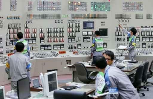 Operadores reiniciam reator nuclear da central de Sendai em 11 de agosto de 2015. Foto: Jiji Press/AFP