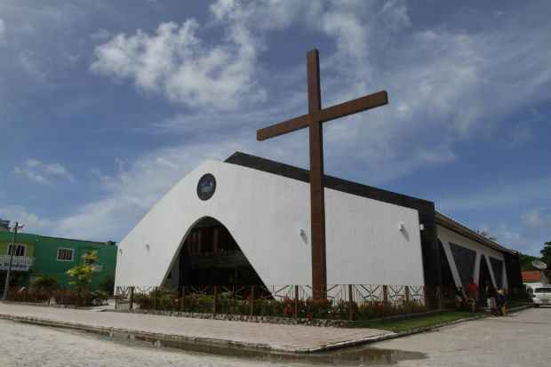 Igreja recém construída foi arrombada durante a madrugada. Foto: Rafael Martins/Esp DP/D.A Press