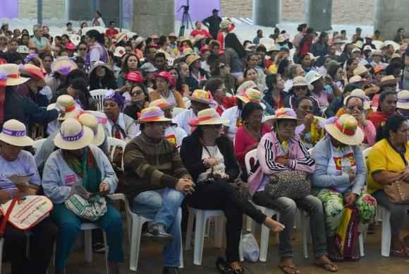 Com o tema Desenvolvimento Sustentável com Democracia, Justiça, Autonomia, Igualdade e Liberdade, mulheres se reúnem na 5ª edição da Marcha das Margaridas, no Estádio Mané Garrincha. Foto: Elza Fiúza/Agência Brasil