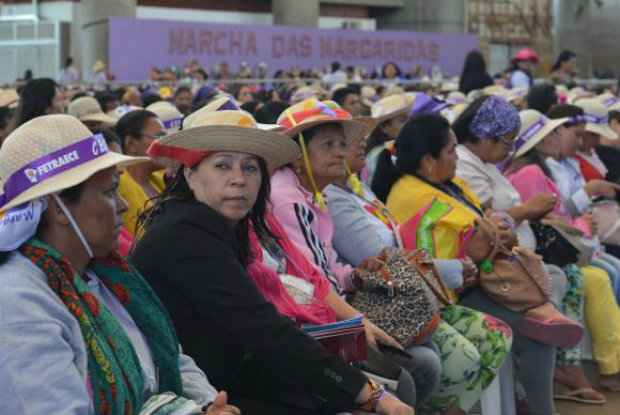 Com o tema Desenvolvimento Sustentável com Democracia, Justiça, Autonomia, Igualdade e Liberdade, mulheres se reúnem na quinta edição da Marcha das Margaridas. (Foto: Elza Fiuza/Agência Brasil)