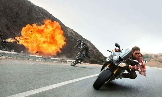 Tiro, porrada e bomba com Tom Cruise em Missão Impossível - Nação Secreta. Foto: Paramount Pictures/Divulgação