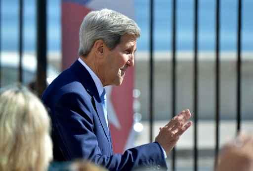 O secretário de estado americano, John Kerry, em Havana, no dia 14 de agosto de 2015. Foto: Adalberto Roque/ AFP