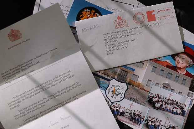 Carta veio em envelope e papel timbrado do Palácio de Buckingham- Foto: João Velozo/Esp.DP/D.A.Press.