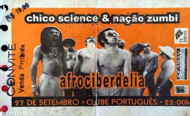 O ingresso do show histórico em 1996, o último com Chico no Recife. Foto: Reprodução da internet