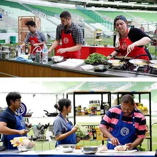 Concorrentes cozinharam na Arena Palmeiras. Foto: Band/divulgação