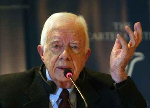 O ex-presidente americano Jimmy Carter. Foto: Amro Maraghi/ Arquivo/ AFP