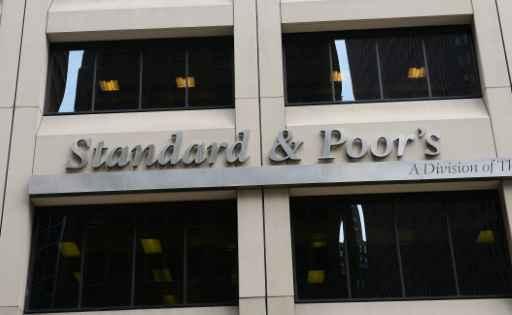 Logo da sociedade financeira Standard and Poor's, em Nova York. Foto: Emmanuel Dunand/AFP