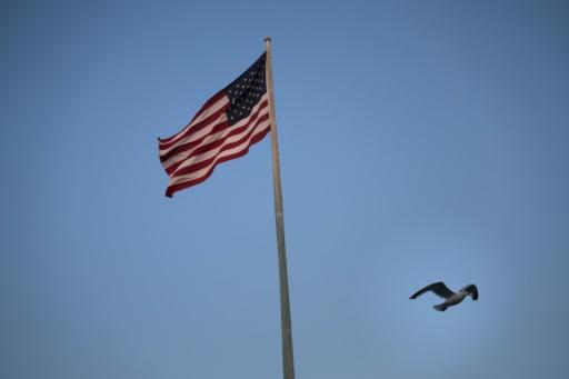 A bandeira dos Estados Unidos. Foto: Brendan Smialowski/AFP