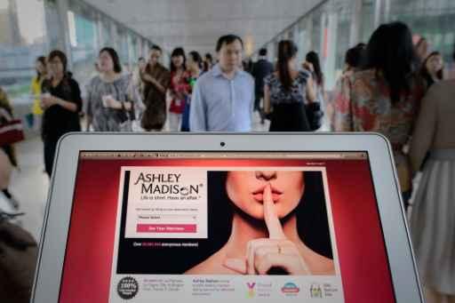 Página inicial do site de relacionamentos Ashley Madison. Foto: Philippe Lopez/AFP