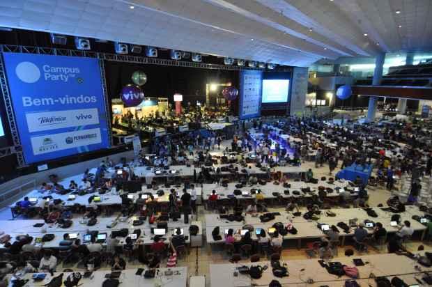 A Campus Party acontece no Recife desde 2011. Foto: Blenda Souto Maior/DP/D.A Press