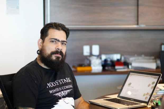 Jacques Barcia lembra que comunidade tecnológica do Recife começou a se formar no mIRC. Foto: Rodrigo Silva/Esp.DP/D.A Press