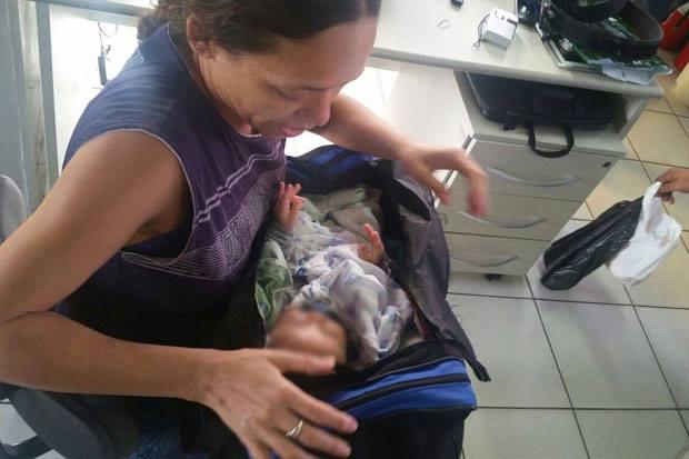 Criança foi encaminhada ao Conselho Tutelar. Foto: PRF/Divulgação