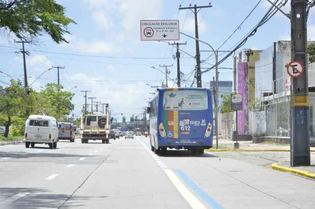 No total já são quase 23 km de faixas exclusivas no Recife. Foto: Bernardo Dantas/ DP/D.A Press.